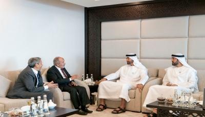 """""""بن زايد"""" يلتقي رئيس حزب الإصلاح وأمينه العام في أبوظبي وقيادي في الحزب يعلق"""
