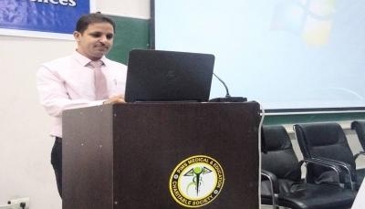 الدكتوراه بامتياز للباحث اليمني زياد عمران في علم الأمراض من جامعة NIMS الهندية