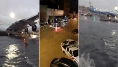مطار الكويت يتحوّل إلى «بحر» والرحلات الجوية ستذهب إلى 3 مطارات أخرى (فيديو)
