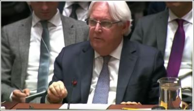 """""""غريفيت"""" يُبشر بقرب الانتهاء من معالجة الملف الاقتصادي لوقف المجاعة في اليمن"""