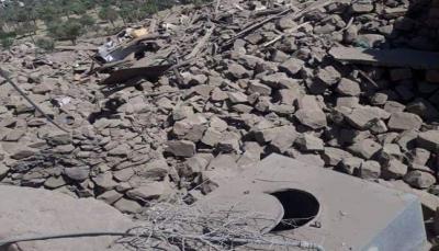 مليشيا الحوثي تفجر خمسة منازل لمواطنين غربي تعز