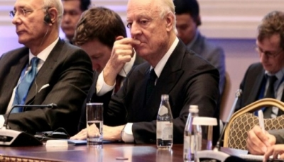 """دي ميستورا يعلن عدم تحقيق """"تقدم ملموس"""" خلال محادثات استانا حول سوريا"""
