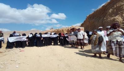 """وقفة احتجاجية لأمهات المعتقلين بـ""""المكلا"""" للمطالبة بالافراج عن أبنائهن"""