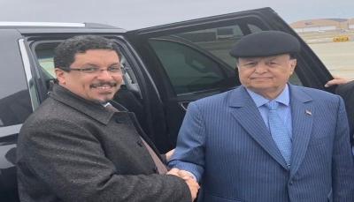 الرئيس هادي يغادر الولايات المتحدة إلى الرياض بعد رحلة علاجية
