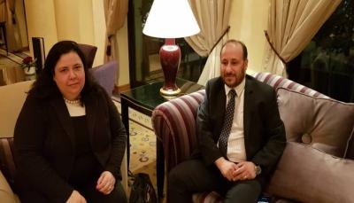 وزير التخطيط يناقش مع مسؤولة أممية خطة مشاريع البنك الدولي لليمن خلال 2019