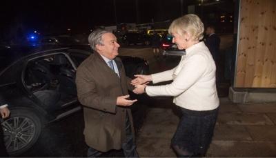 غوتيريش يصل ستوكهولم للمشاركة في ختام المشاورات اليمنية