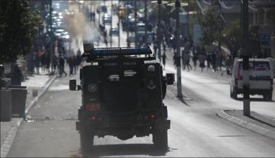 إصابة 39 فلسطينيا خلال مواجهات مع الاحتلال الإسرائيلي في الضفة الغربية