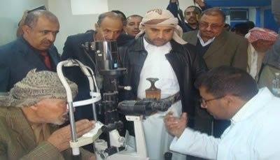 """جمعية النبراس تنظم مخيما طبيا مجانيا للعيون بـ""""صنعاء"""""""