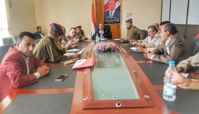 أمنية تعز تشدد على رفع الجاهزية القتالية لإفشال مخططات المليشيا الانقلابية