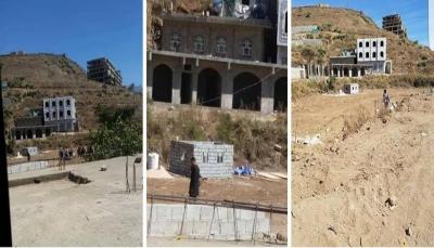 إب: مسلحون حوثيون يسطون على أرضية مغترب ويشرعون بالبناء