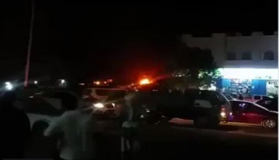 اندلاع حريق هائل في مصافي عدن (فيديو)
