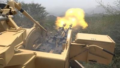 صعدة: مقتل ثمانية حوثيين بينهم قيادي في قصف مدفعي للجيش في باقم