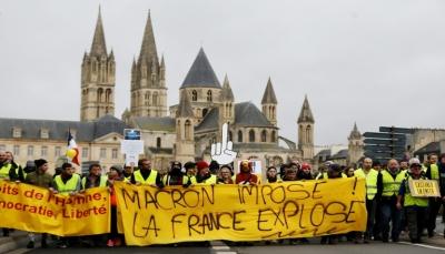 """أكثر من شهرين على تظاهرات """"السترات الصفراء"""" في فرنسا ومخاوف من اعمال عنف"""