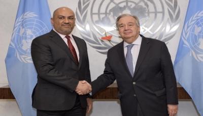 وزير الخارجية: الأمم المتحدة تعهدت بمغادرة الحوثيين موانئ الحديدة