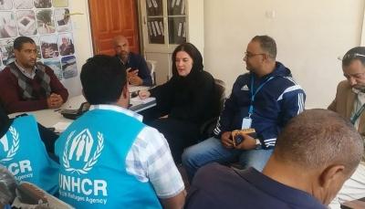 تعز: وفد من مفوضية اللاجئين يزور مدينة التربة