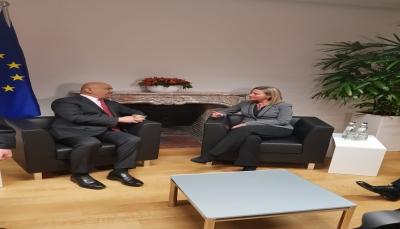 """خلال لقاءه مسؤول أوروبي.. """"اليماني"""" يدعو لمضاعفة المساعدات الانسانية لليمن"""