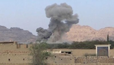"""عمران: مقاتلات التحالف تقصف معسكرا تدريبياً للحوثيين في """"حرف سفيان"""""""