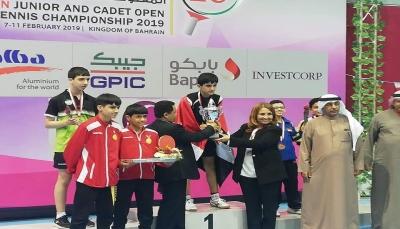 لاعب يمني يتوج ببطولة البحرين الدولية لكرة الطاولة تحت سن 15 عاما