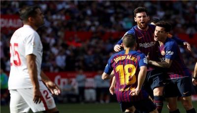 بهاتريك ميسي.. برشلونة يقلب الطاولة على إشبيلية