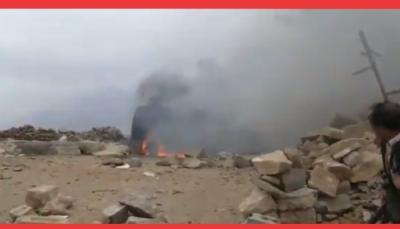 """لأول مرة.. """"قبائل حجور"""" تسقط طائرة مسيرة للحوثيين والجيش يستعد لفك الحصار"""