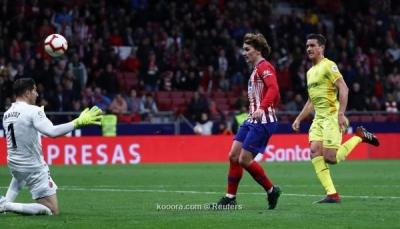"""أتلتيكو مدريد يواصل مطاردة برشلونة على قمة """"الليجا"""""""