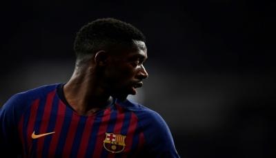 ديمبيلي يتدرب جزئيا أملا بالمشاركة مع برشلونة ضد مانشستر يونايتد