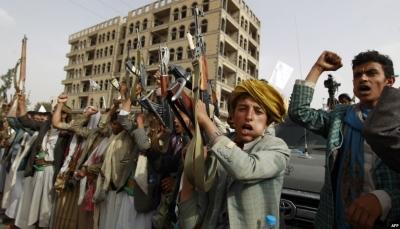"""عمران.. مليشيا الحوثي تختطف ثمانية أشخاص في مديرية """"القفلة"""""""