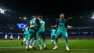 توتنهام ينتزع التأهل رغم خسارته أمام مانشستر سيتي بأربعة أهداف