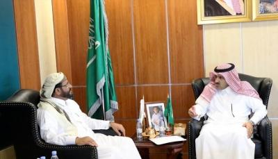 العرادة يناقش مع السفير السعودي مشروع مطار مأرب