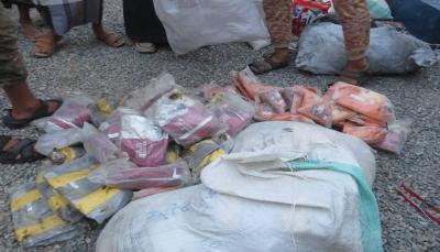 مأرب: الأجهزة الأمنية تضبط 293 كيلو حشيش مخدر في عمليتين منفصلتين