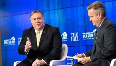 """""""بومبيو""""يتهم إيران بدفع الحوثيين لعدم تنفيذ اتفاق ستوكهولم ومواصلة القتال"""
