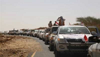 """مؤسسة """"وطن"""" تُسير قافلة لمساندة المقاتلين في جبهتي قانية بالبيضاء ونهم بصنعاء"""