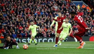 هزيمة مذلة لبرشلونة أمام ليفربول في دوري الأبطال