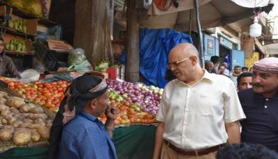 محافظ تعز يوجه بتشكيل لجان ميدانية لضبط أسعار المواد الغذائية