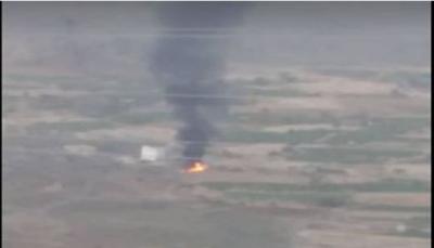 الضالع: قوات الجيش الوطني تدمر شاحنة تحمل ذخائر للميليشيا غرب قعطبة