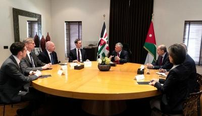عاهل الأردن يبلغ مستشار ترامب أن السلام لن يتحقق إلا بإقامة دولة فلسطينية