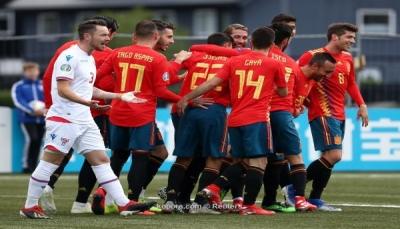 إسبانيا تحقق الانتصار الثالث على التوالي في تصفيات يورو 2020