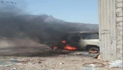 """الضالع: قوات الجيش تدمر طقمين لميليشيات الحوثي غرب """"قعطبة"""""""