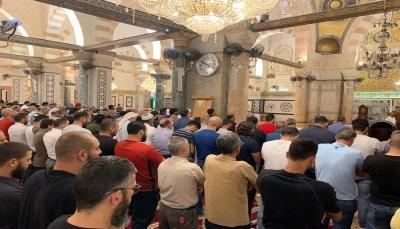 شاهد – إقامة صلاة الغائب على الرئيس الراحل محمد مرسي في المسجد الأقصى