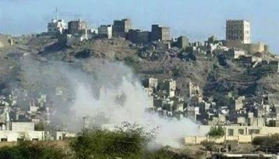 إصابة خمسة مدنيين بجروح في قصف لميليشيا الحوثي بالضالع