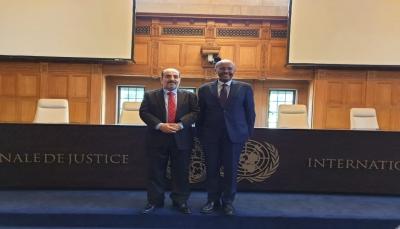 """""""الغريب"""" يلتقي رئيس محكمة العدل الدولية لبحث التعاون الثنائي في المجال العدلي"""