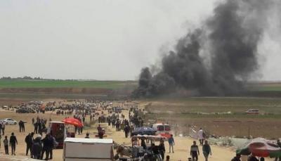 الاحتلال الإسرائيلي يُصيب 50 فلسطينيا خلال مشاركتهم بمسيرة شرقي غزة