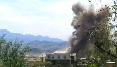 مقاتلات التحالف تستهدف مواقع للحوثيين شرق إب