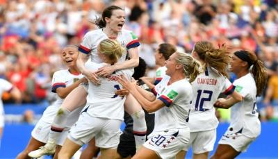 سيدات الولايات المتحدة يتوجن ببطولة مونديال فرنسا 2019