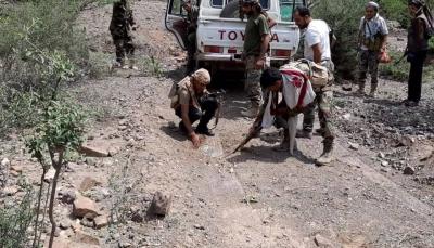 """الضالع: نجاة قيادات عسكرية من موت محقق بانفجار لغم أرضي في """"قعطبة"""""""