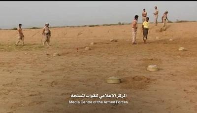 الجيش الوطني يعلن تفكيك حقل ألغام زرعتها مليشيا الحوثي في الحديدة