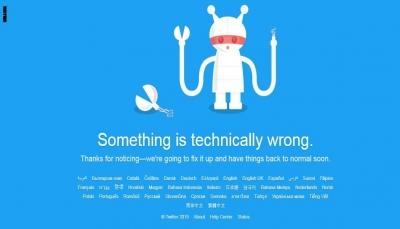 """""""تويتر"""" يعود للعمل بعد تعطله بسبب مشكلة تقنية"""