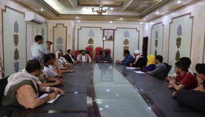 محافظ الجوف يلتقي فريق اللجنة الوطنية للتحقيق في انتهاكات حقوق الإنسان