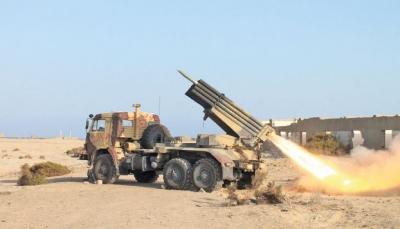 قصف حوثي على مواقع القوات الحكومية جنوب الحديدة