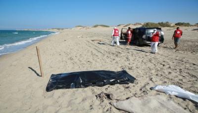 انتشال 62 جثة لمهاجرين غرق مركبهم قبالة السواحل الليبية